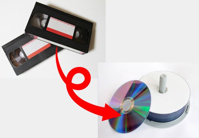 VHSからDVDへ変換します